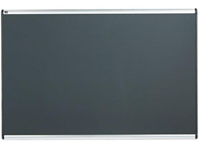 Quartet B447A Prestige Bulletin Board, Diamond Mesh Fabric, 72 x 48, Gray/Aluminum Frame
