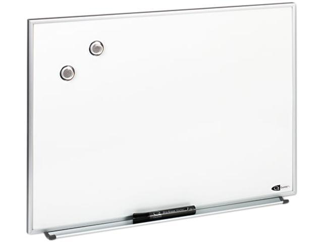 Quartet M2316 Magnetic Dry Erase Board, Painted Steel, 23 x 16, White, Aluminum Frame