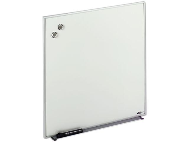 Quartet M2323 Magnetic Dry Erase Board, Painted Steel, 23 x 23, White, Aluminum Frame