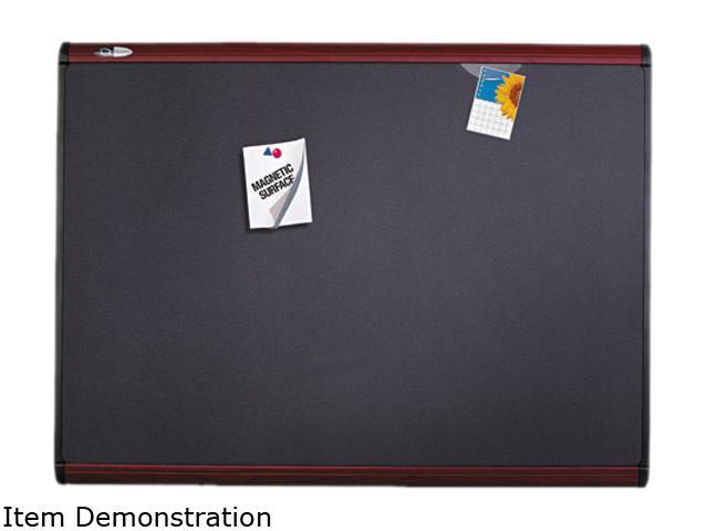 Quartet MB544M Prestige Plus Magnetic Fabric Bulletin Board, 48 x 36, Mahogany Frame