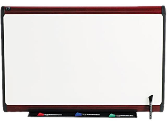 Quartet P553M Premium Dry Erase Board, Porcelain/Steel, 36 x 24, White/Mahogany Frame