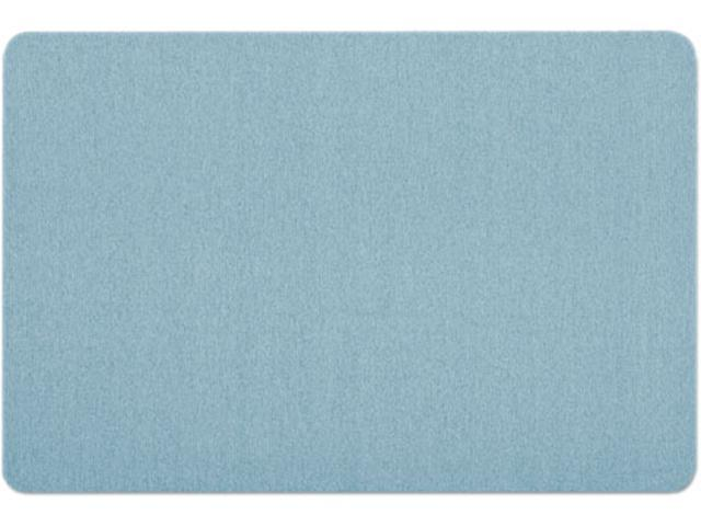 Quartet 7683BE Oval Office Fabric Bulletin Board, 36 x 24, Light Blue