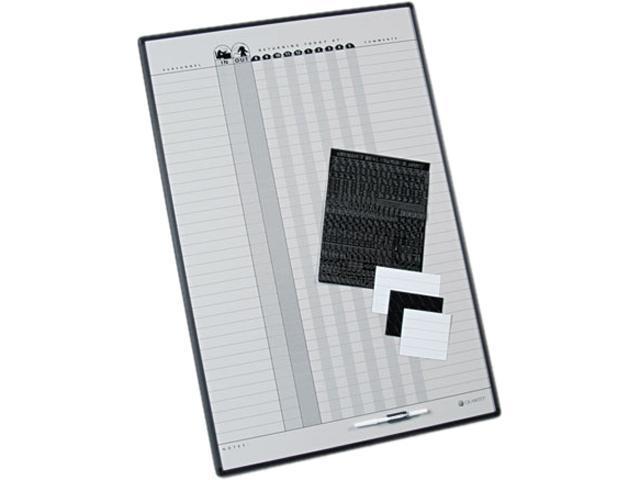 Quartet 783G Magnetic Employee In/Out Board, Porcelain, 24 x 36, Gray/Black Aluminum Frame