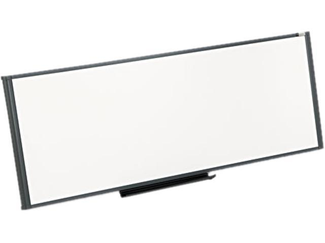 Quartet WM4818 Workstation Total Dry Erase Board, 48 x 18, White, Gray Frame