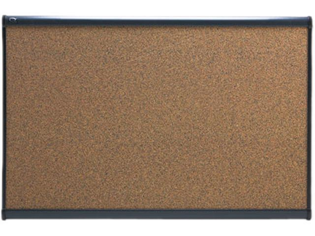 Quartet B243G Prestige Bulletin Board, Graphite-Blend Cork, 36 x 24, Aluminum Frame