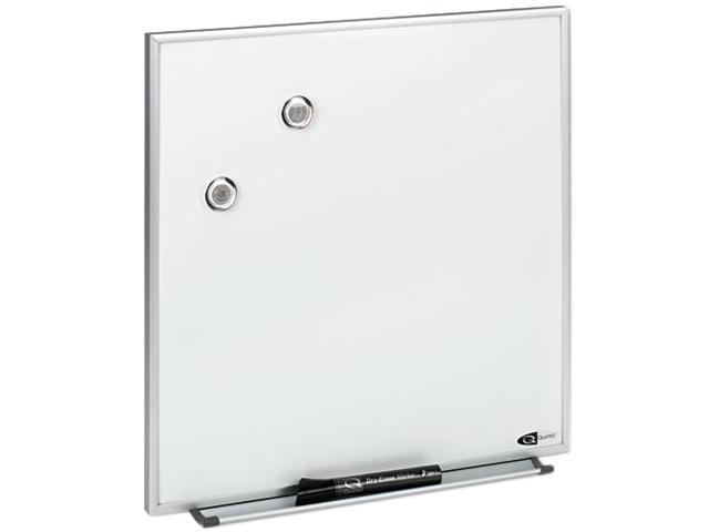 Quartet M1616 Magnetic Dry Erase Board, Painted Steel, 16 x 16, White, Aluminum Frame