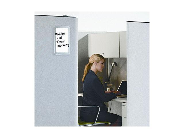 Quartet TM1107 iQTotal Erase Board, 11 x 7, White, Clear Frame, 1 Each