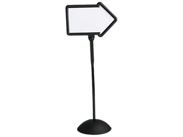 Safco 4173BL Double-Sided Arrow Sign, Dry Erase Magnetic Steel, 25 1/2 x 60, Black Frame