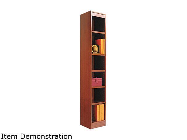 Alera BCS67212MC Narrow Profile Bookcase, Wood Veneer, 6-Shelf, 12 x 72, Medium Cherry