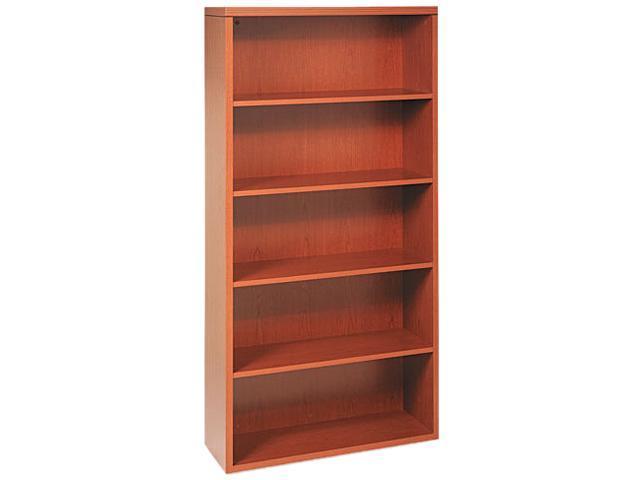 HON 11555AXHH Valido 11500 Series Bookcase, 5 Shelves, 36w x 13-1/8d x 71h, Bourbon Cherry
