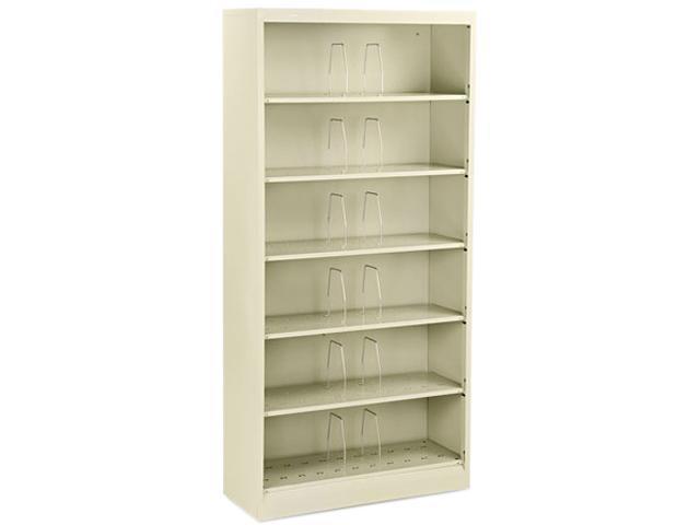 HON 626NL 600 Series Open Shelving, Steel 6-Shelf, Letter, 36w x 13-3/4d x 75-7/8h, Putty