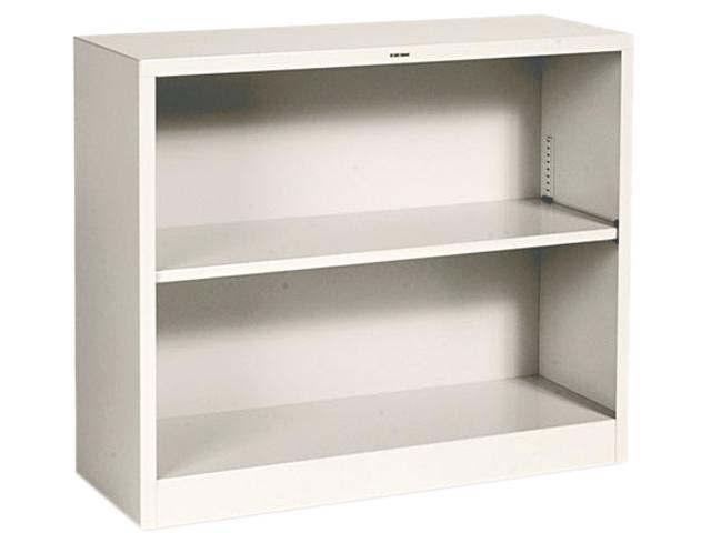 HON S30ABCL Metal Bookcase, 2 Shelves, 34-1/2w x 12-5/8d x 29h, Putty