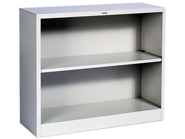 HON S30ABCQ Metal Bookcase, 2 Shelves, 34-1/2w x 12-5/8d x 29h, Light Gray