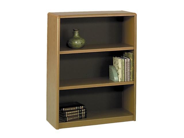 Safco 7171MO Value Mate Series Bookcase, 3 Shelves, 31-3/4w x 13-1/2d x 41h, Medium Oak