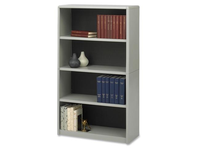 Safco 7172GR Value Mate Series Bookcase, 4 Shelves, 31-3/4w x 13-1/2d x 54h, Gray