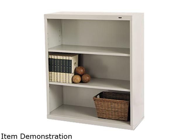 Tennsco B-42PY Metal Bookcase, 3 Shelves, 34-1/2w x 13-1/2d x 40h, Putty