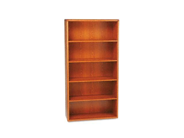 HON 10700 Series Bookcase, 5 Shelves, 36w X 13-1/8d X 71h, Henna Cherry