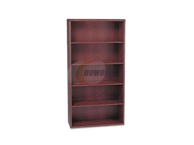 HON 10700 Series Bookcase, 5 Shelves, 36w X 13-1/8d X 71h, Mahogany