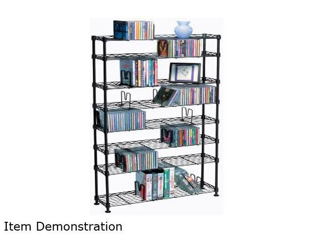 Atlantic 3020 Maxsteel 8 Tier Multimedia Rack For 440 CDs Or 228 DVDs And Bluray In Black