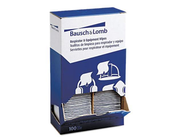 Bausch & Lomb 8595(BAL) Antibacterial Office Equipment Wet Wipes, Cloth, 5 x 8, 100/Box