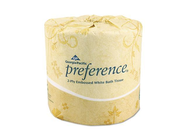 Georgia Pacific 18280/01 Preference Embossed 2-Ply Bathroom Tissue, 550 Sheet/Roll, 80 Rolls/Carton