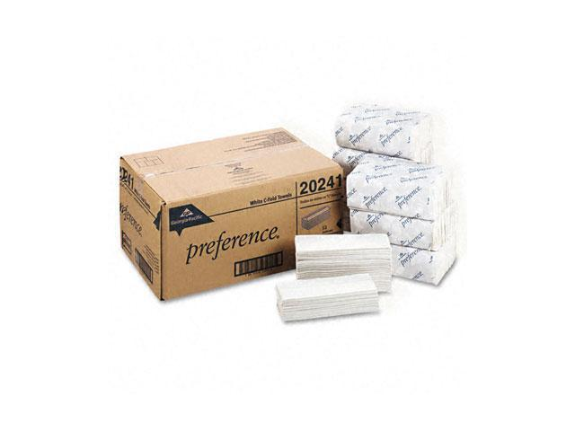 Georgia Pacific 20241 Premium C-Fold Paper Towel, 10-1/4 x 13-1/4, White, 200/Pack, 12/Carton