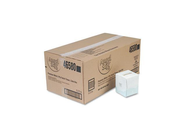 Georgia Pacific 46580CT Angel Soft ps Premium Facial Tissue in Cube Box, 96/Box, 36 Boxes/Carton