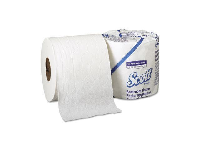 KIMBERLY-CLARK PROFESSIONAL* 04460 SCOTT Standard Roll Bathroom Tissue, 2-Ply, 605 Sheets/Roll, 80/Carton