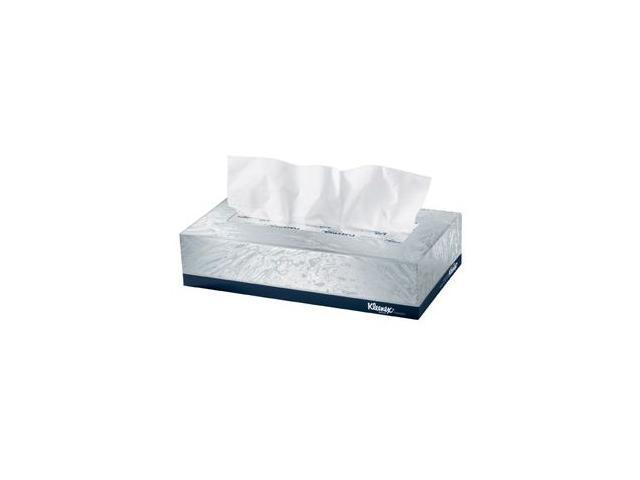 KIMBERLY-CLARK PROFESSIONAL* 21606BX KLEENEX White Facial Tissue, 2-Ply, White, POP-UP Box, 125/Box