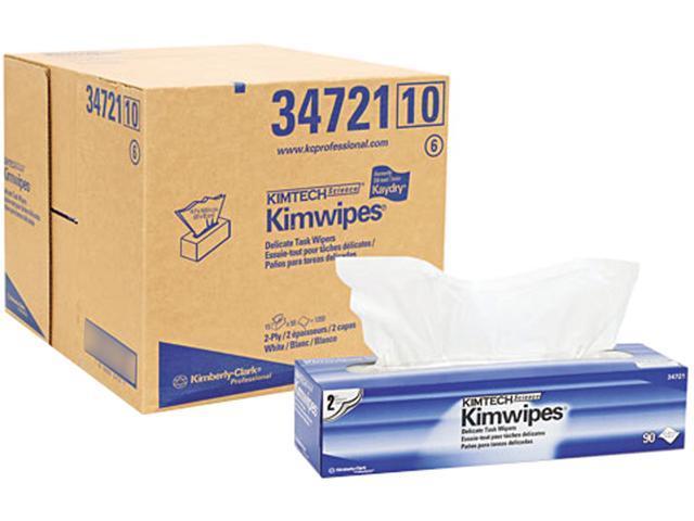 KIMBERLY-CLARK PROFESSIONAL* 34721 KIMTECH SCIENCE KIMWIPES, Tissue, 14 7/10 x 16 3/5, 90/Box, 15/Carton