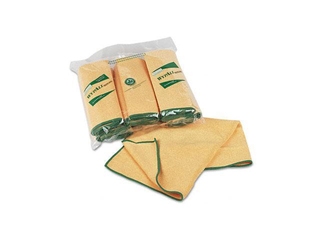 KIMBERLY-CLARK PROFESSIONAL* 83610 WYPALL Cloths w/Microban, Microfiber, 15 3/4 x 15 3/4, Yellow, 6/Pack