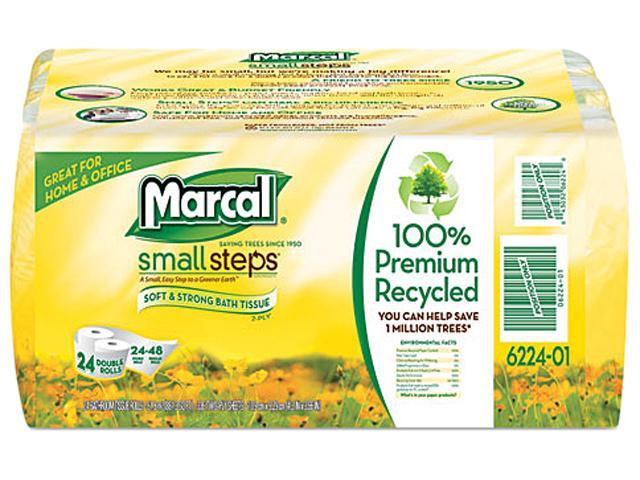 Marcal Small Steps 6224 100% Recycled Convenience Bundle Bathroom Tissue, 4 Rolls/Pack, 6/Carton