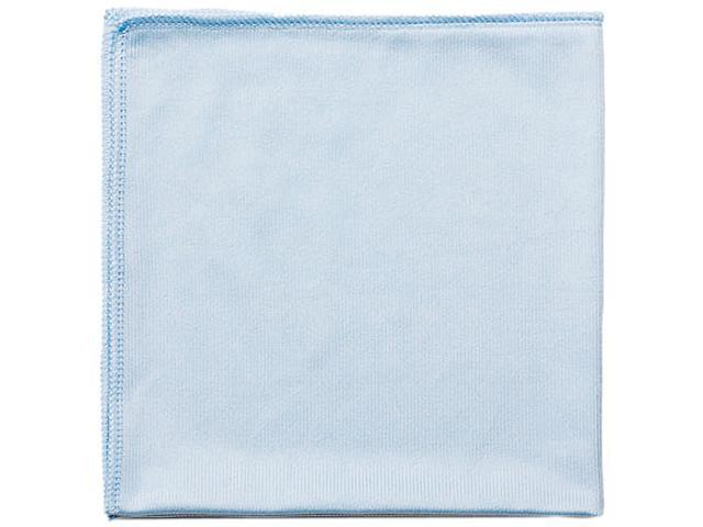 Rubbermaid Commercial Q630 Reusable Cleaning Cloths, Microfiber, 16 x 16, Blue, 12/Carton