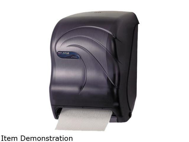 San Jamar T1390TBK Electronic Touchless Roll Towel Dispenser, 11 3/4 x 9 x 15 1/2, Black