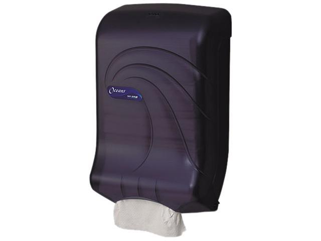 San Jamar T1790TBK Oceans Ultrafold Towel Dispenser, Transparent Black, 11-3/4w x 6-1/4d x 18h