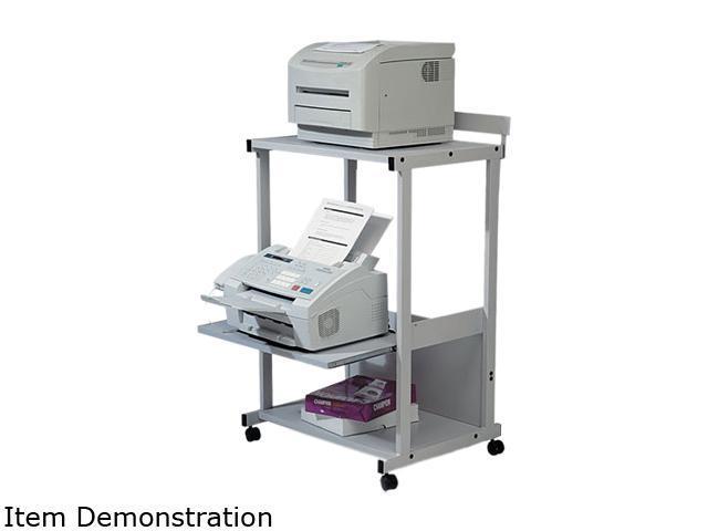 BALT 25983 Max Stax Dual Purpose Printer Stand, 3-Shelf, 25w x 20d x 42-1/2h, Gray