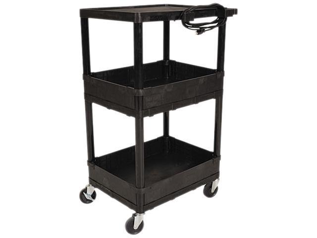 BALT 27529 All Service Cart, 3-Shelf, 24w x 18d x 16h, Black