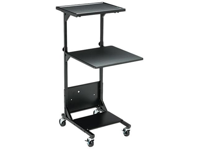 BALT 81052 Adjustable Height Projection Stand, 3-Shelf, 18w x 20d x 47-1/2h, Black