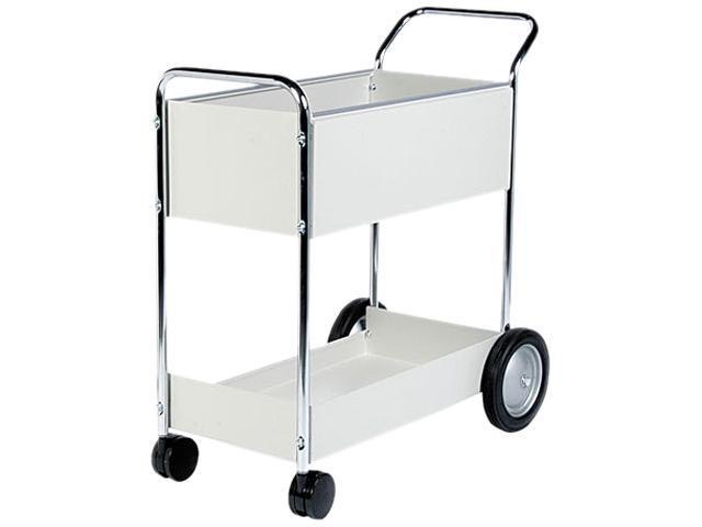 Fellowes 40922 Steel Mail Cart, 150-Folder Capacity, 20w x 38-1/2d x 39h, Dove Gray