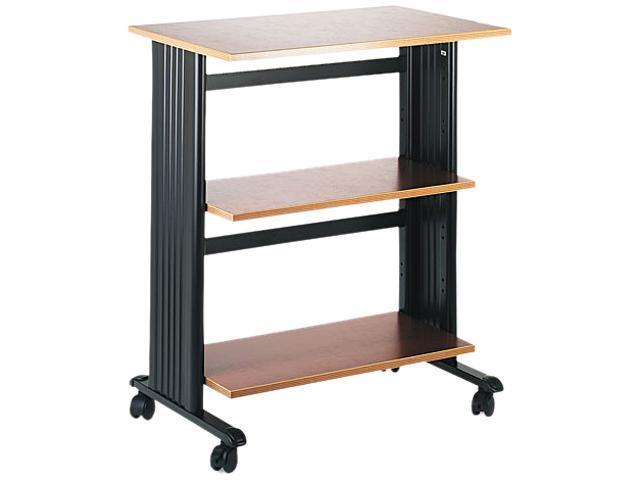 Safco 1881CY Mobile Machine Cart, 3-Shelf, 29-1/2w x 20d x 35h, Black