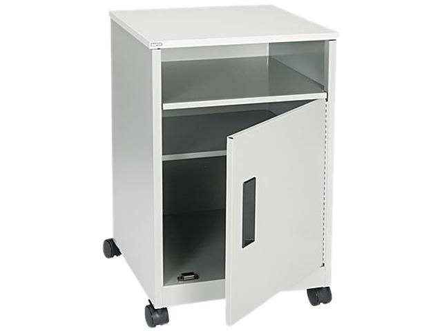Safco 1871GR Steel Machine Stand w/Compartment, 1-Shelf, 17-1/4w x 17-1/4d x 27-1/4h, Gray