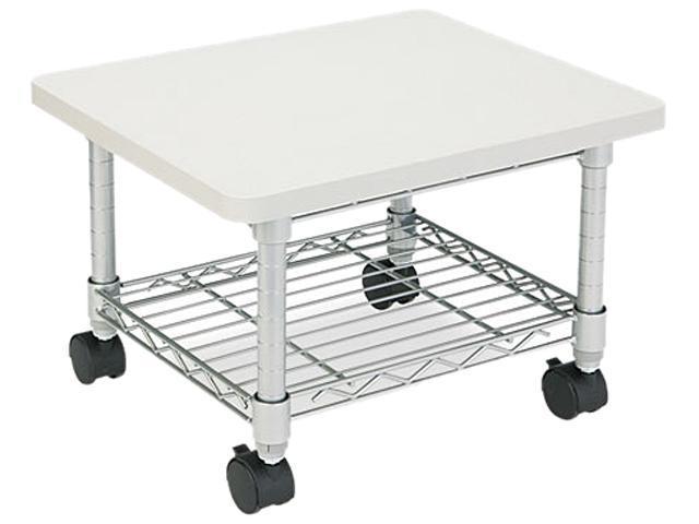 Safco 5206GR Underdesk Printer/Fax Stand, 1-Shelf, 19w x 16d x 13-1/2h, Gray