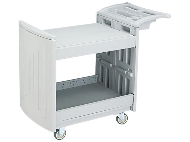 Safco 5330GR Utility Cart, 2-Shelf, 45w x 22-7/8d x 37-1/4h, Light Gray