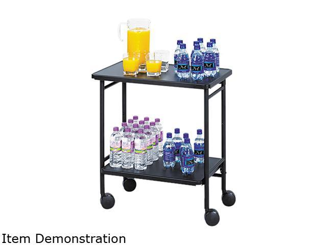 Safco 8965BL Folding Office/Beverage Cart, 2-Shelf, 26w x 15d x 30h, Black