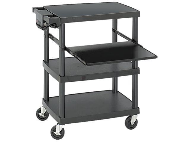 Safco 8929BL Multimedia Projector Cart, 4-Shelf, 27-3/4w x 18-3/4 x 34-3/4, Black