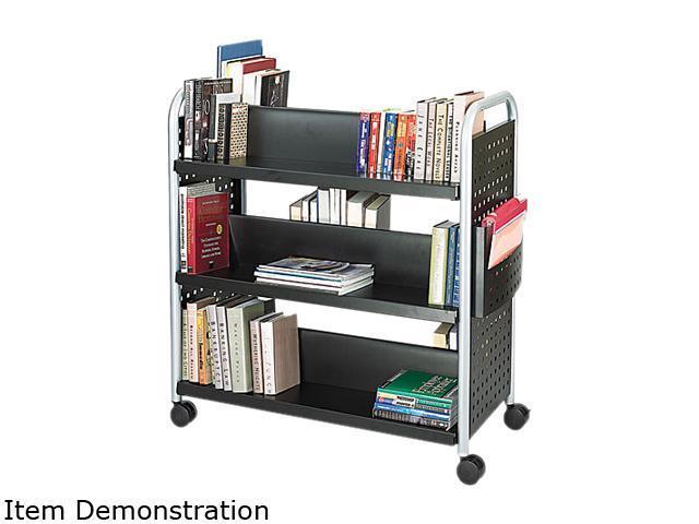 Safco 5335BL Scoot Book Cart, 6-Shelf, 40w x 17-1/2d x 41-1/2h, Black