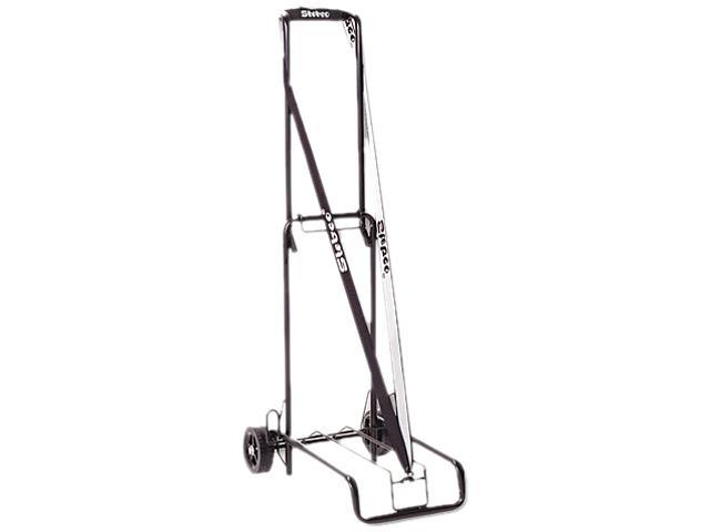 STEBCO 390002BLK Luggage Cart, 125lb Capacity, 13 x 10 Platform, Black Steel