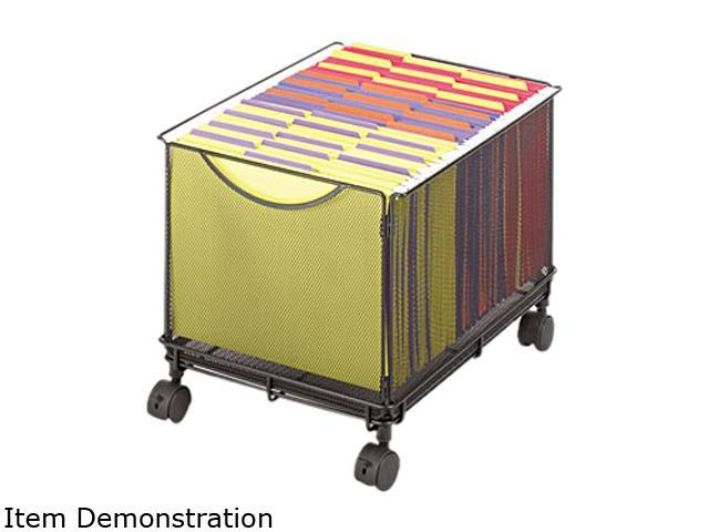 Safco Onyx Mesh Mobile File Cube, 13-3/4 x 17 x 13, Black