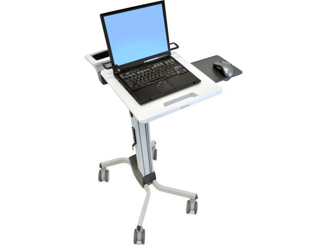 Ergotron 24-205-214, Neo-Flex 24-205-214 Laptop Cart, NO Basket Included - 15 lb Capacity - 4 Casters - Aluminum, Plastic, Steel - 28.8