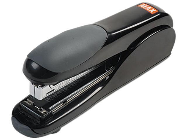 Max HD-50DFBK Flat-Clinch Standard Stapler, 30-Sheet Capacity, Black
